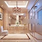 Ylellinen moderni kylpyhuone sisustus