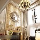 Villa Living Room Tv Cabinet Interior