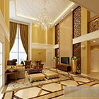 Villa Living Room Crystal Lamp Interior