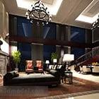 Villa Living Room Dining Room Interior