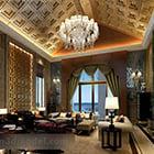 Villa Living Room Luxury Crystal Lamp Interior