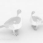 White Ceramic Pigeon Design