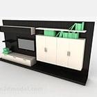 Meuble de télévision combiné en bois créatif
