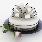 ホワイトケーキデザート