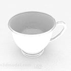 White Simple Cup