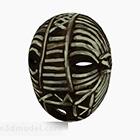 Decorazione maschera striscia bianca