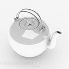 Biały ceramiczny czajniczek