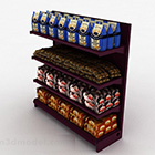 Wine Red Wooden Product Display Stand