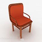 Chaise de salon confortable en bois