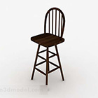 Sedia da bar semplice in legno da