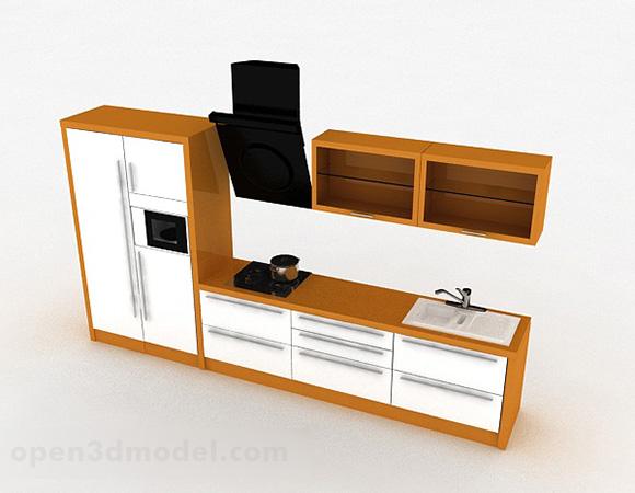 Armoire De Cuisine Simple En Bois Modele 3d Gratuit Max Open3dmodel A 329881