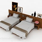 Wooden Simple Single Bed Combination
