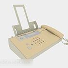 Yellow Office Fax Machine
