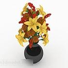 Yellow Flowers Home Flower Vase