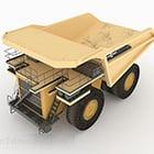 Gelber Bulldozer schwerer Transport