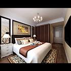 Interno camera da letto di grandi dimensioni