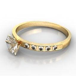 女性の結婚指輪無料の3dモデル 3ds Gsm Open3dmodel
