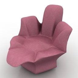 現代的なアームチェアの花の形をした無料の3dモデル 3ds Gsm Maバツ Open3dmodel