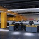 Ufficio generale parete gialla