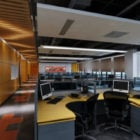 Modern Yellow Office Workspace