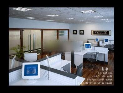 General Office Workspace Room