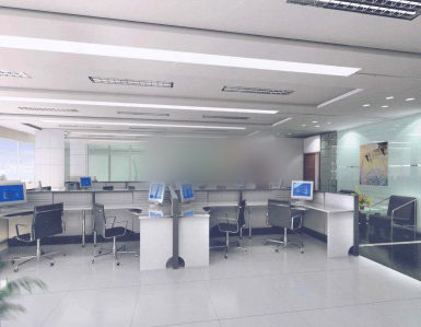 White Office Workspace Room