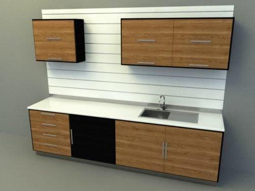 Simple Kitchen Design V1 Free 3d Model 3ds C4d Max Obj Skp Open3dmodel 369696