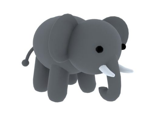 Harmaa nukke norsu