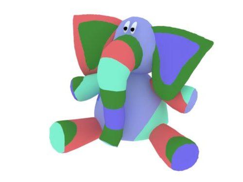 Elephant Kid täytetty lelu