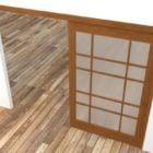 Japanese Wood Door