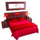 Set completo letto materasso rosso