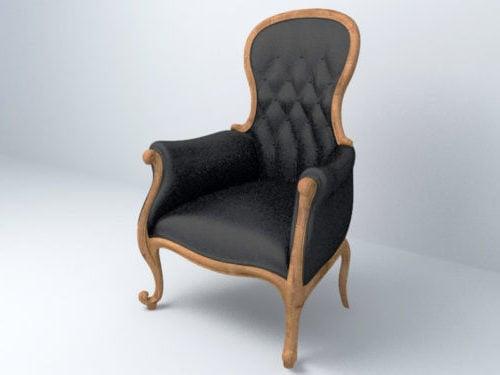 Korkea yksityiskohtainen vintage-tuoli