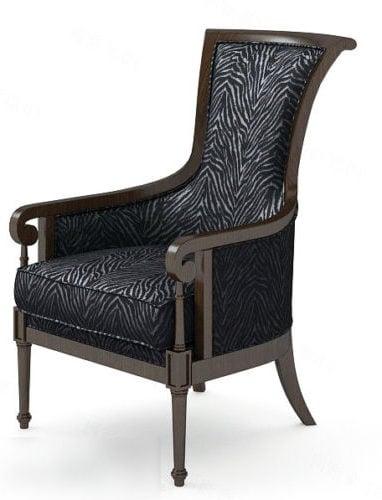 Vintage Black Leather Sofa Chair
