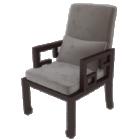 Sedia da divano in legno tessuto grigio