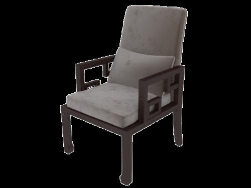Wood Sofa Chair Grey Fabric