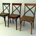 Vintage Wooden Dining Chairs Set
