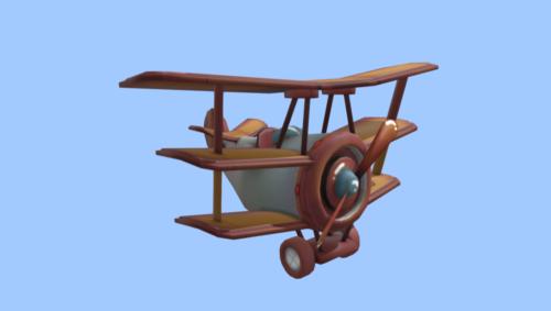 Sarjakuva Vintage Plane