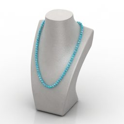 Beads Dummy Jewelry Free 3d Model 3ds Gsm Open3dmodel