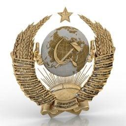 Soviet Coat Of Arms Free 3d Model 3ds Gsm Open3dmodel 3793