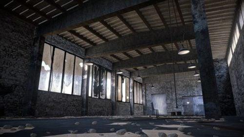Old Abandoned Warehouse Scene