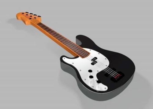 Guitarra eléctrica acústica negra