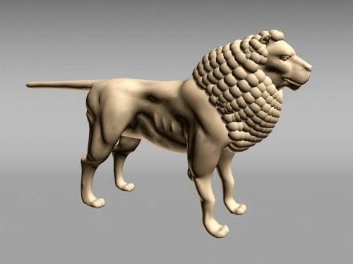 Egyptiläinen leijonanveistos