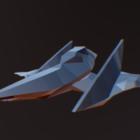 Sci-fi Star Spaceship Arwing