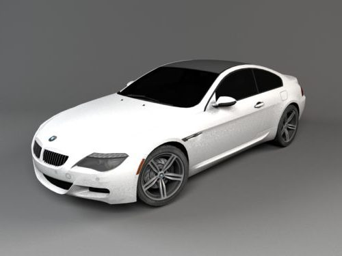 Valkoinen Bmw M6 Coupe -auto