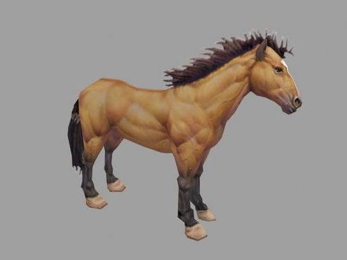 Villi ruskea hevonen