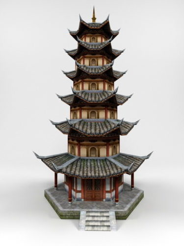 Ancient Chinese Pagoda Building