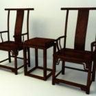 中国文化の木の椅子のテーブル