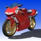 Röd Ducati 916 sportcykel