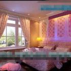 European Warm Girl Bedroom Interior