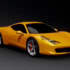 Italia Yellow Ferrari 458 Car